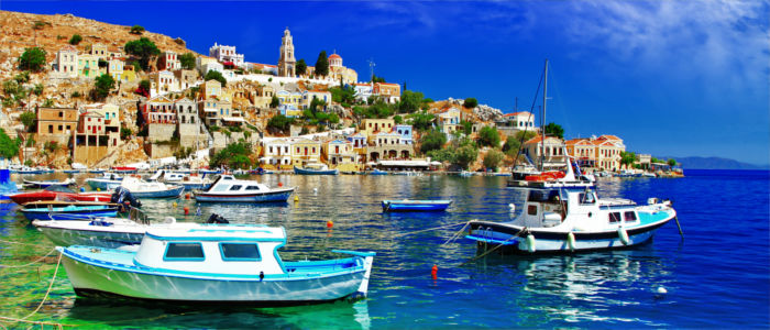 Greek island Symi in the Aegean