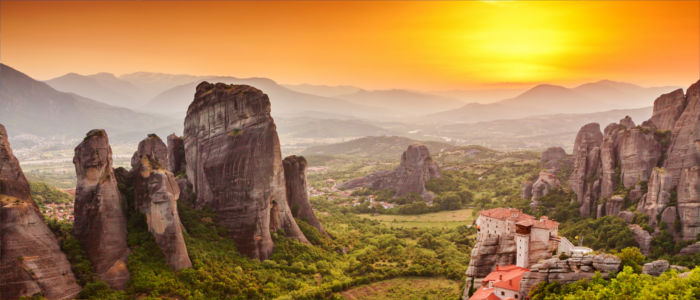 Meteora monasteries in Thessaly, Greece
