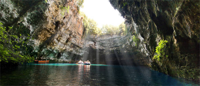 Melissani Lake on Kefalonia