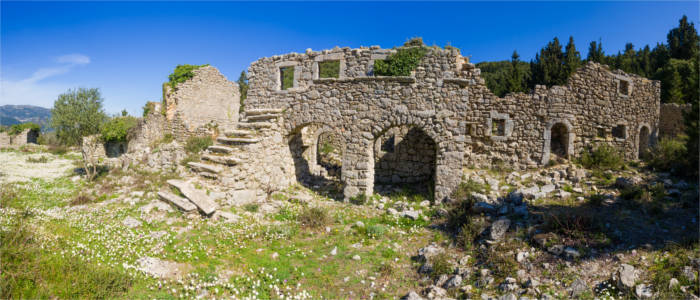 Ruins of the Castle of Agia Mavra on Lefkada