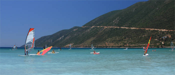 Water sports on the Ionian islands