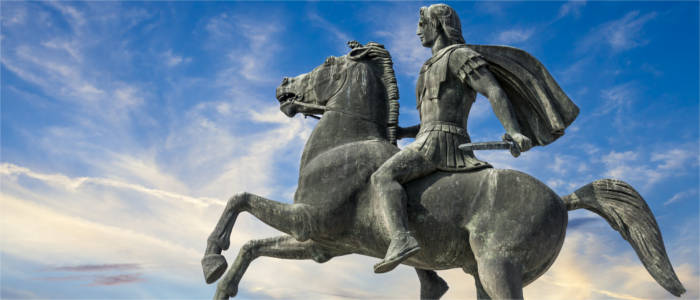 Alexander the Great of Macedonia on his horse