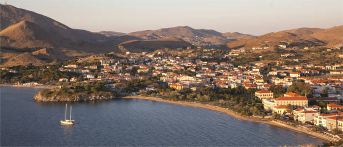 The island of Lemnos in the North Aegean