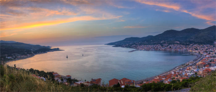 The island of Samos in the North Aegean
