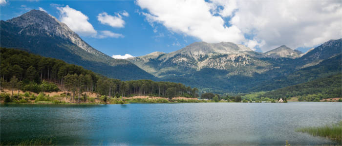 Feneos Lake in the Peloponnese