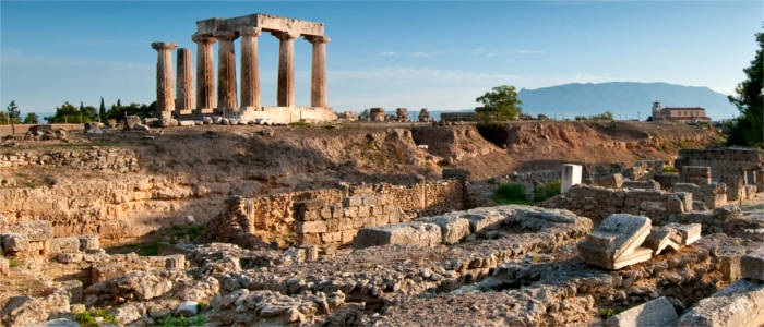 The Temple of Apollo in the Peloponnese