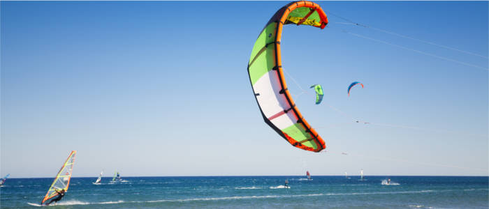 Kitesurfing on Rhodes