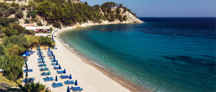 Sandy beach on Samos