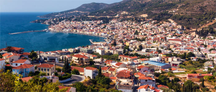 The town of Vathy on Samos
