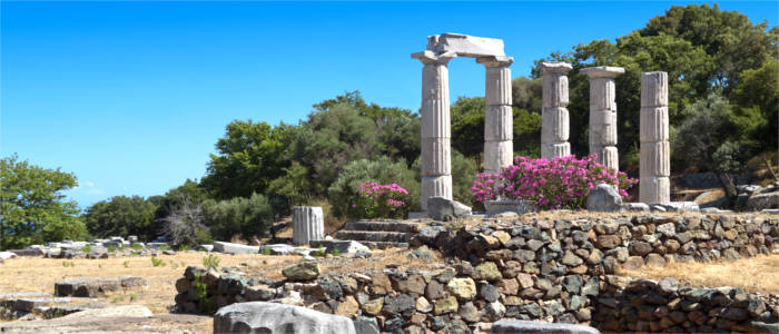 Temple complex on the island of Samothraki