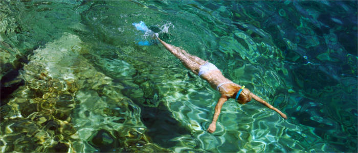 Snorkelling in the Ionian Sea