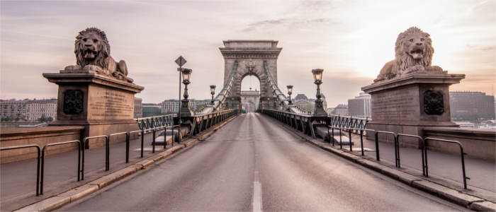 Bridges in Budapest in Hungary