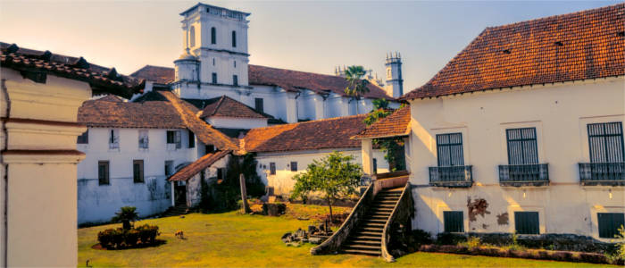 Old Goa with historical buildings