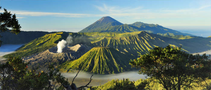 The volcanic landscape of Bromo in Indonesia