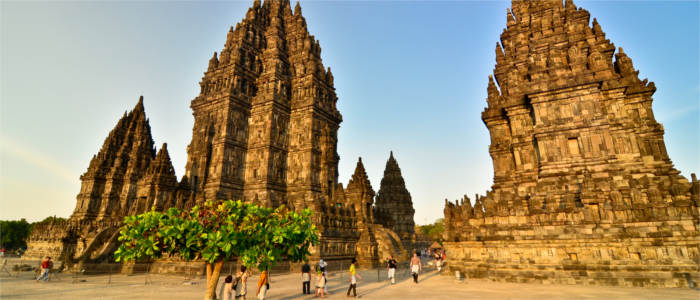 The temple complex of Prambanan