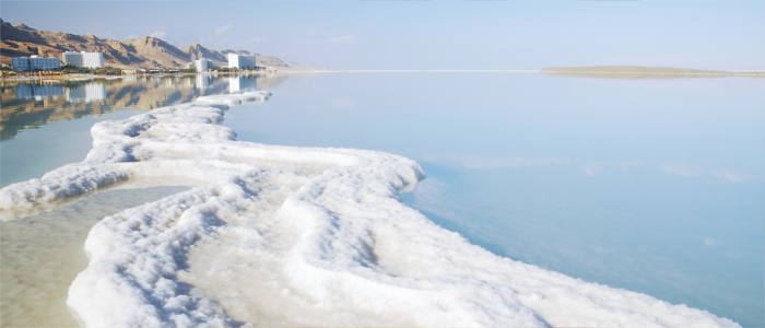 Coastal towns at the Dead Sea in Israel