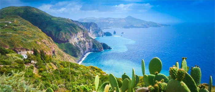Natural landscape on the Aeolian Islands