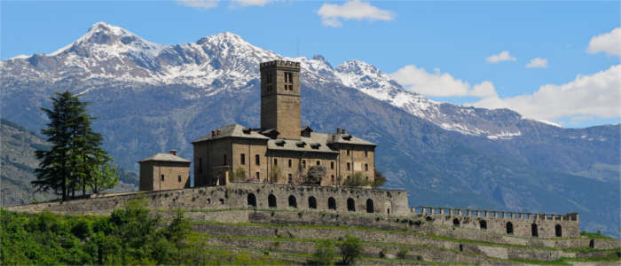 Castle in the Aosta Valley