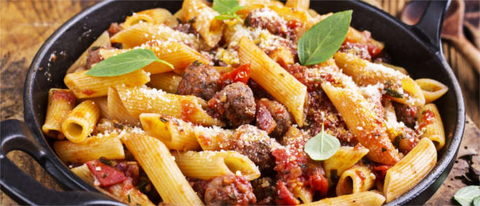 Spicy sausage and pasta