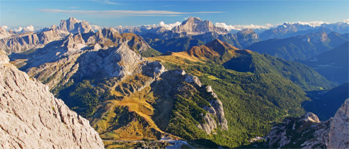 Panorama of the Dolomites