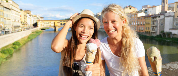 Eating ice cream in Florence
