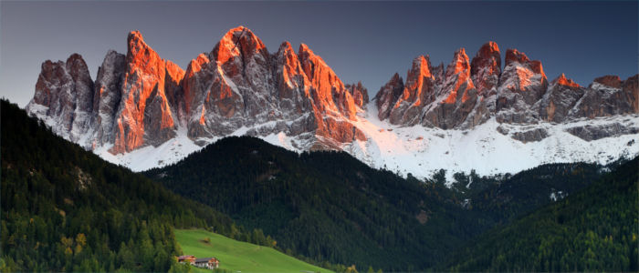 Mountains of the Dolomites in Iatly