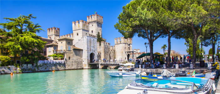 Medieval castle at Lake Garda