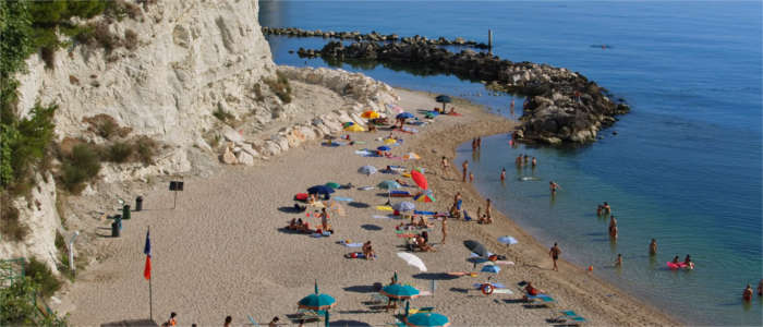 At the beach in Marche
