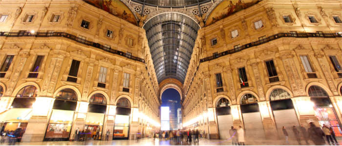Famous shopping arcade