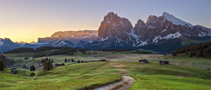 Mountain scenery in Trentino-South Tyrol