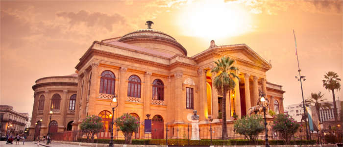 The famous opera in Palermo