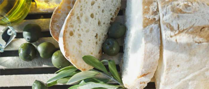 Bread and olive oil from Tuscany