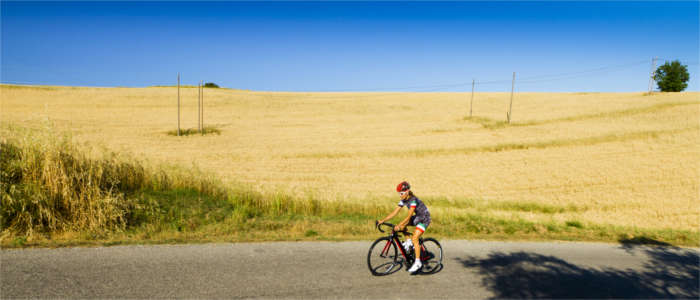 Cyclist in Umbria