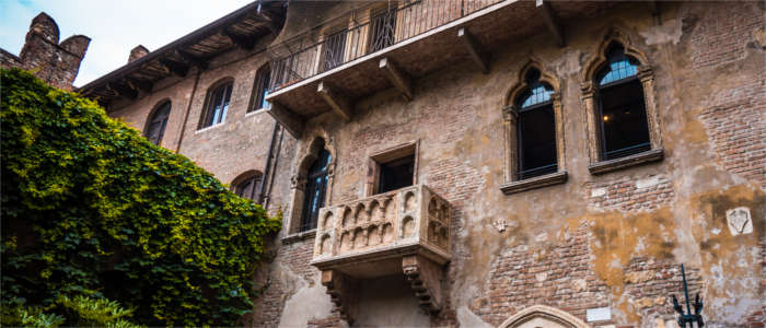 The famous balcony in Veneto