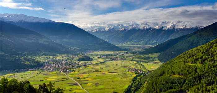 Valley landscape in Trentino-South Tyrol