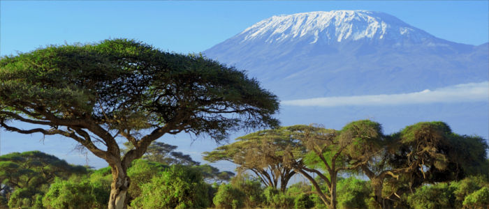 The peak of Mount Kilimanjaro in Kenya