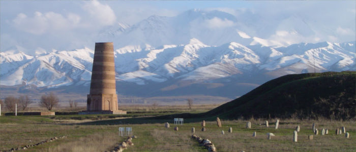 The Burana Tower in Kyrgyzstan