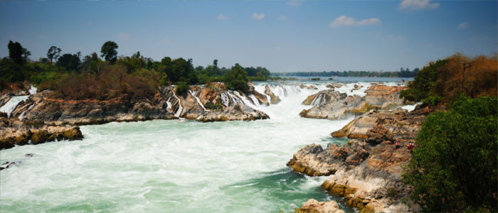 Mekong Waterfalls in Laos