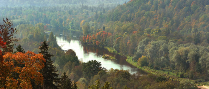 River Gauja in Latvia