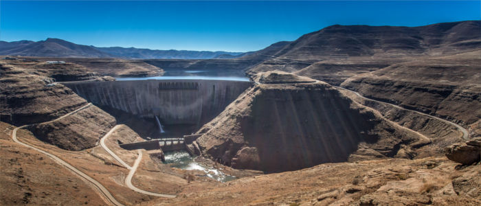 The impressive Katse Dam in Lesotho