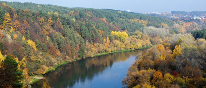 The river Neris in Lithuania