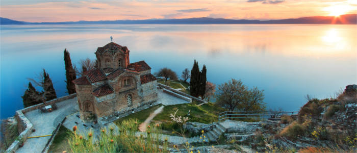 Architecture at Lake Ohrid in Macedonia