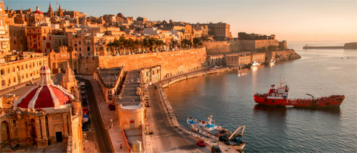 The harbour of Valletta