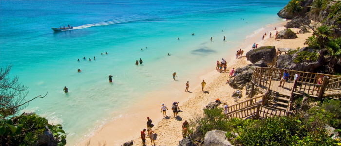 Mexico's sandy beaches in Yucatán, Tulum