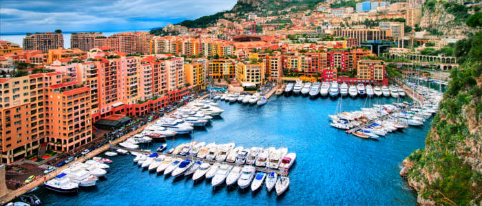 Luxurious yacht harbour in Monaco