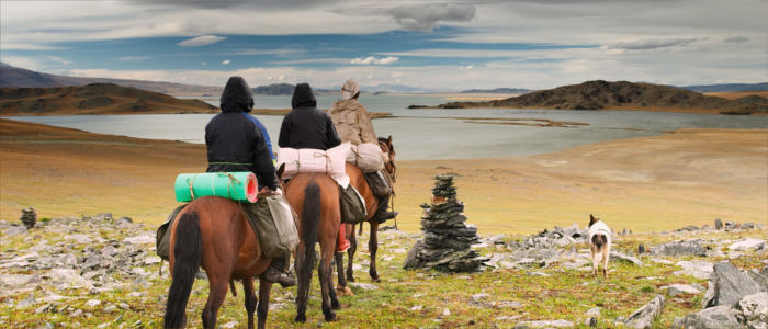 Out and about on horseback in Mongolia