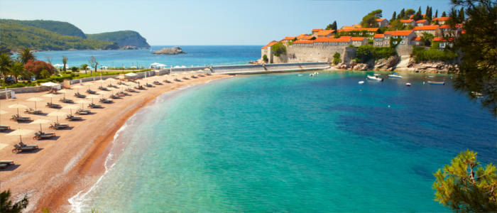 The beach of Sveti Stefan