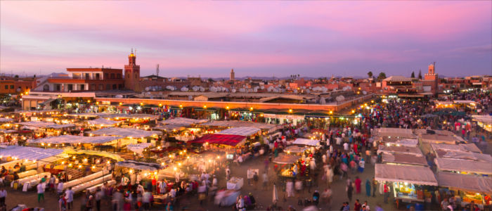 City Marrakesh in Morocco