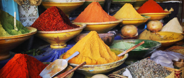 Spices on a market in Morocco