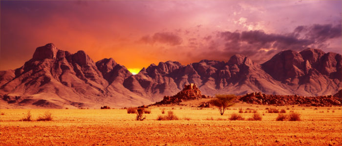 Mountain range in Namibia